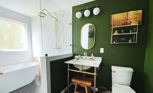 Eclectic Luxury Bathroom